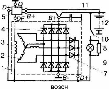 Фото №14 - схема генератора ВАЗ 2110