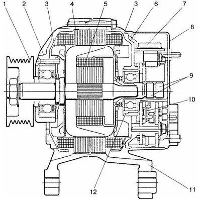 принципиальные электрические схемы автомобилей